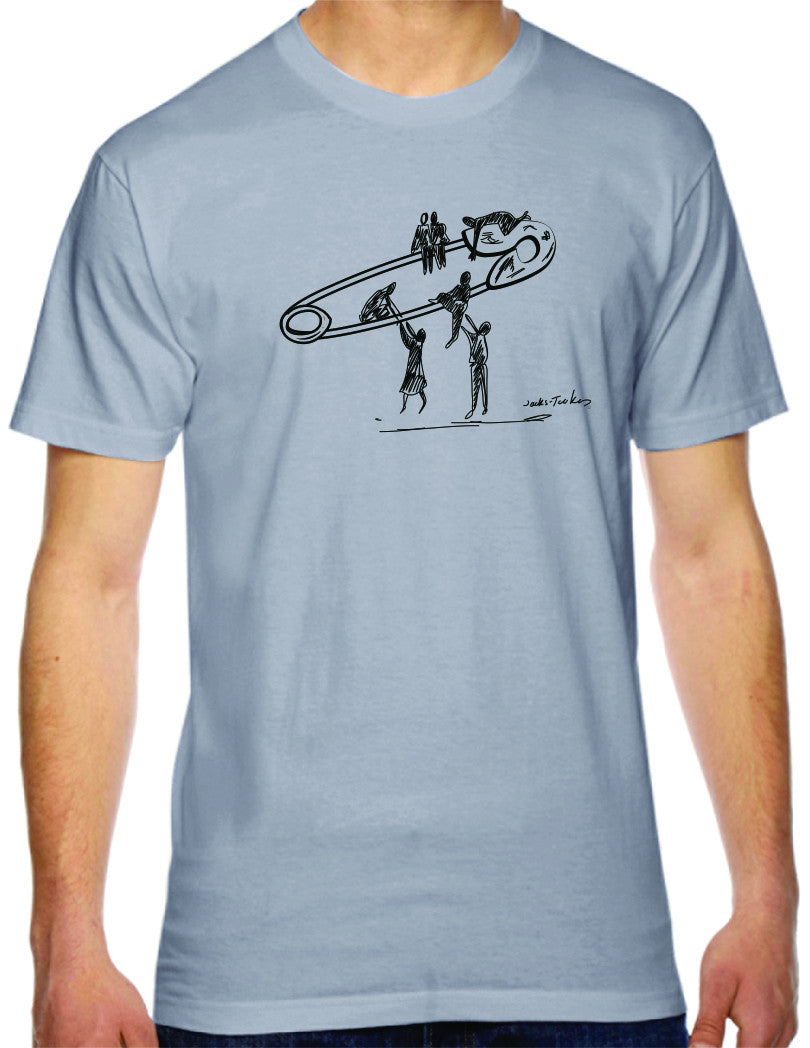 safety lift mens tshirt benefiting the ACLU (slate)