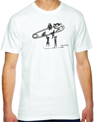 safety lift mens tshirt benefiting the ACLU (white)