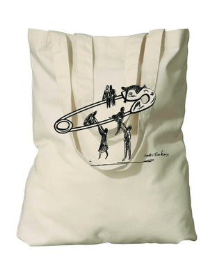 ACLU safety lift tote benefiting Earthworks (natural)