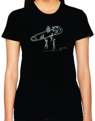 safety lift womens tshirt benefiting the ACLU (black)