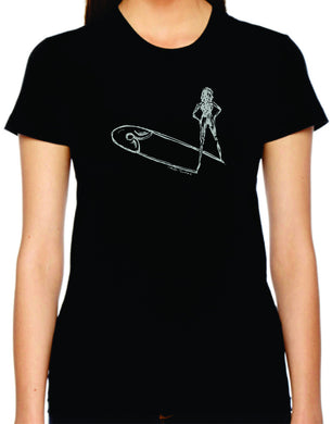 safety lift womens tshirt benefiting Planned Parenthood (black)