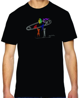 safety lift mens tshirt benefiting the Human Rights Campaign (black)