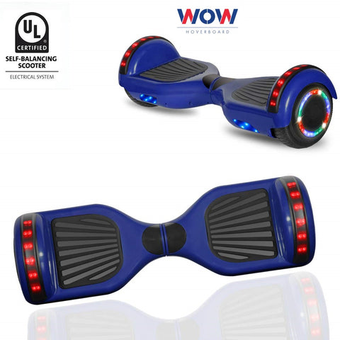 Blue hoverboard Bluetooth speaker, LED lights in Canada----6.5 inch - Best Hoverboards in Canada