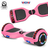 Pink Hoverboard With Bluetooth Speaker and Lights  in Canada---6.5 Inch - Best Hoverboards in Canada