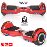 Red color hoverboard bluetooth speaker, LED lights in Canada - Best Hoverboards in Canada