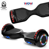 UL2722 Certified Hoverboard Black Color With Bluetooth Speaker and Lights  in Canada--6.5 Inch - Best Hoverboards in Canada