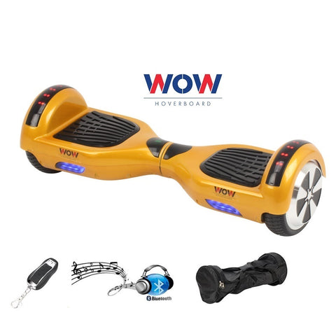 Hoverboard Gold Color With Bluetooth Speaker and Lights in Canada--6.5 Inch - Best Hoverboards in Canada