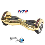 Chrome Gold Lamborgini Hoverboard Bluetooth speaker, LED lights in Canada--8 inch