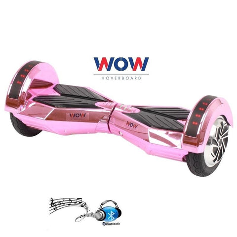 Hoverboard Lamborgini Chrome Pink with lights bluetooth speaker In US, Canada---8 Inch