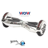 Chrome Silver Lamborgini Hoverboard Bluetooth speaker, LED lights In Canada---8 inch