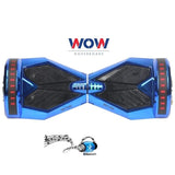Lamborgini Chrome Blue Hoverboard with Bluetooth Speakers + Lights In US, Canada--8 inch