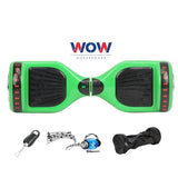 Hoverboard Green Color With Bluetooth Speaker and LED Lights in Canada---6.5 Inch - Best Hoverboards in Canada