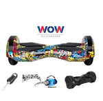 "Lamborgini Hoverboard 8"" Inch With Bluetooth Speaker, LED lights -- Hip POP Color - Best Hoverboards in Canada"