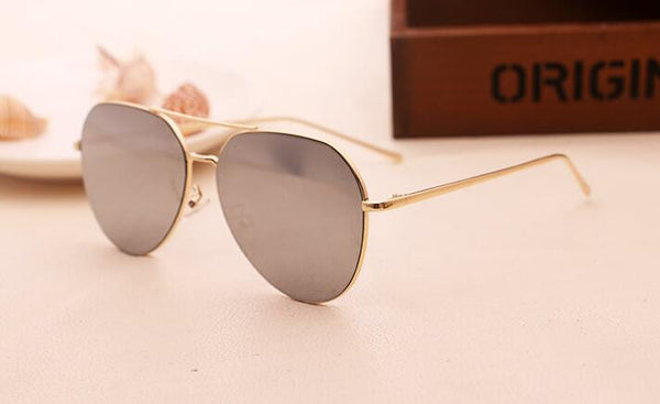Designer Rose Gold Round Sunglasses