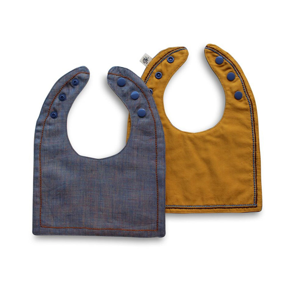 Abraham Reversible Luxe bib - Gertrude and the King