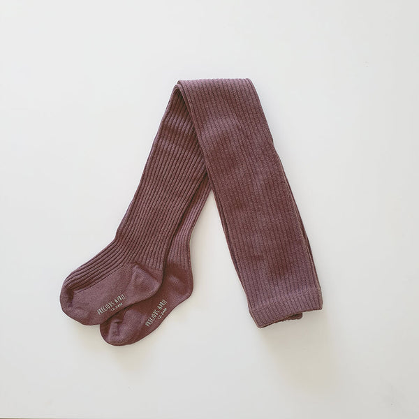 Callie Cotton Tights - Plum - Gertrude and the King