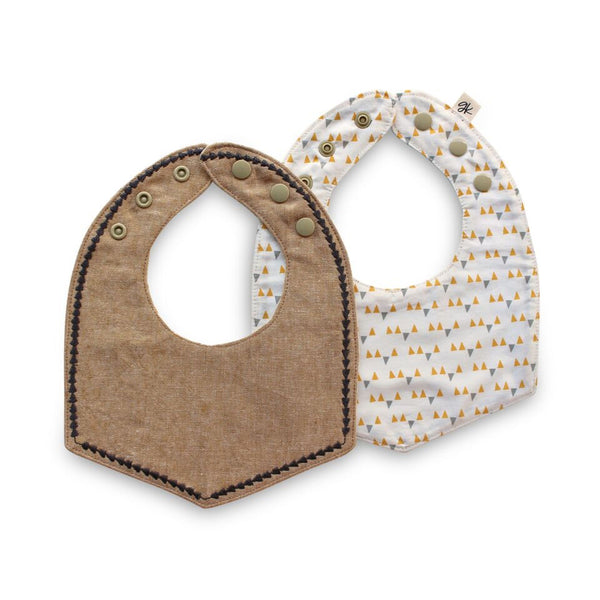 Cameron Reversible Luxe Bib - Gertrude and the King