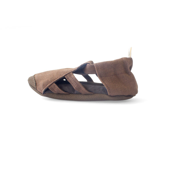 Chocolate Soft Sole Sandal - Waxed canvas - Gertrude and the King