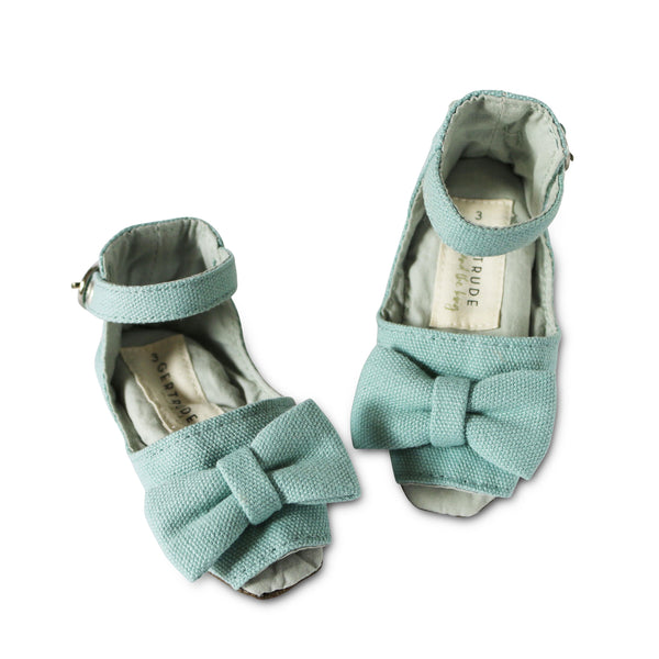 Seafoam Peep Toe Soft Sole Shoes - Gertrude and the King