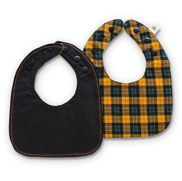 Jamie Reversible Luxe bib - Gertrude and the King