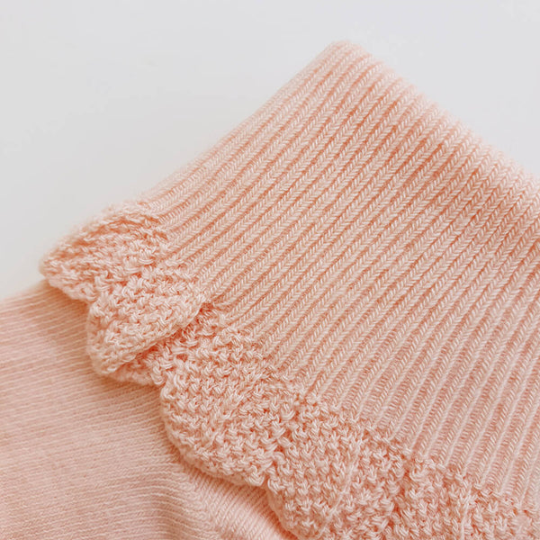 Poppie Cotton Socks - Baby Pink - Gertrude and the King