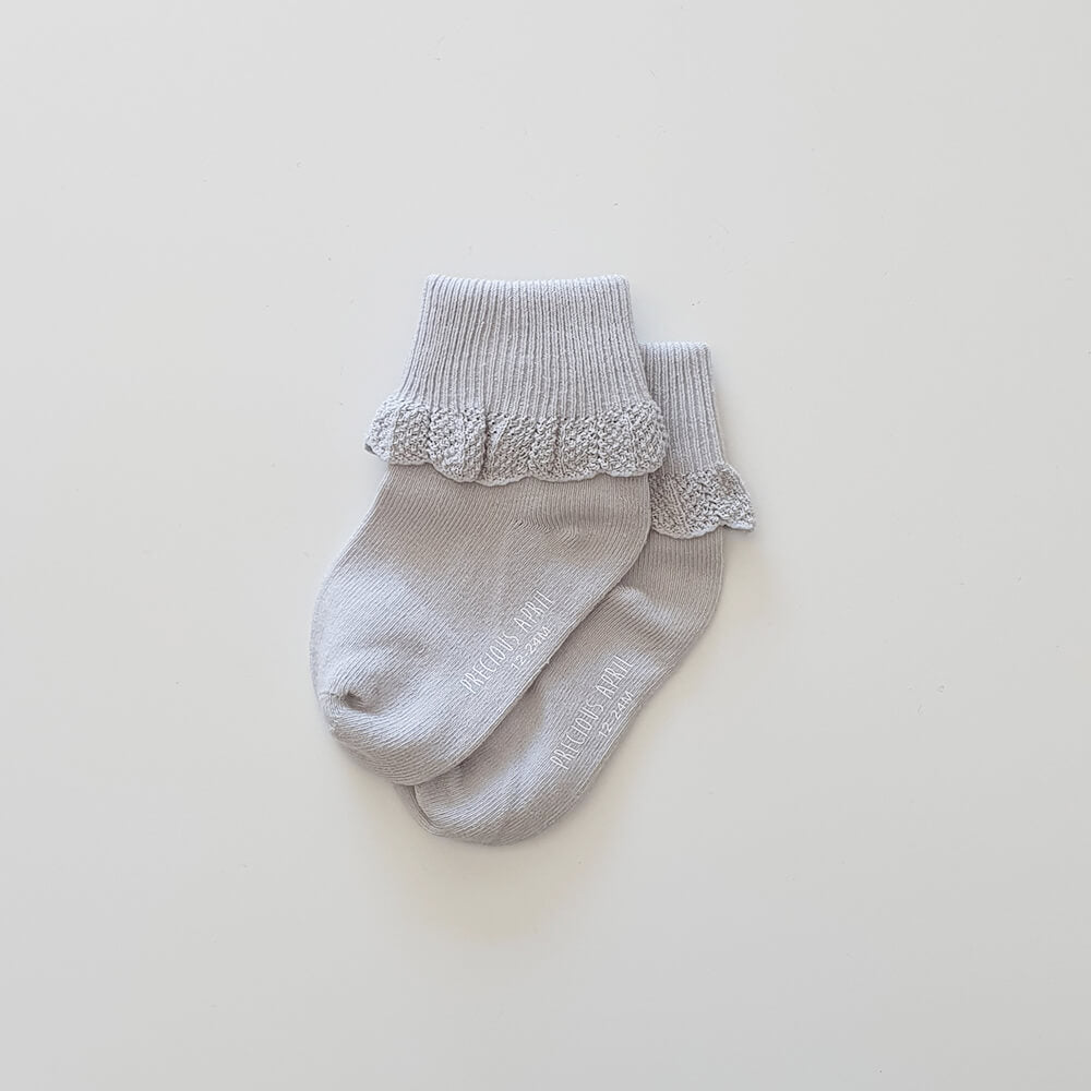 Poppie Cotton Socks - Soft Grey - Gertrude and the King