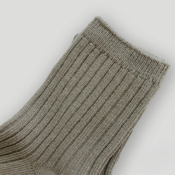 Skyler Cotton Socks - Steel Grey - Gertrude and the King