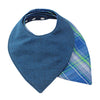 Blue Plaid Bandana Bib - Discontinued - Gertrude and the King
