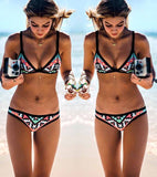 Aztec triangle 2 piece bikini set
