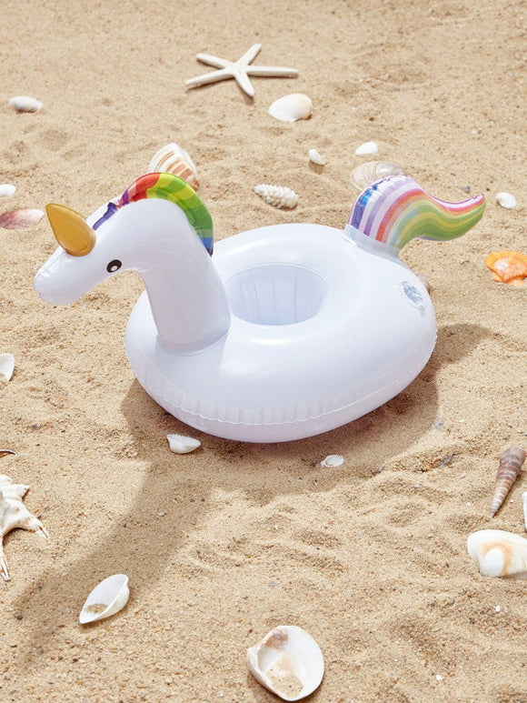 Unicorn inflatable pool beach cup coaster drink holder
