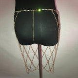 Luxury Cage rhinestone diamond Body chain skirt