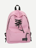 Lace up Style fashion school travel backpack