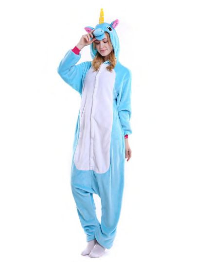 Plush Unicorn onesie pajamas jumpsuit