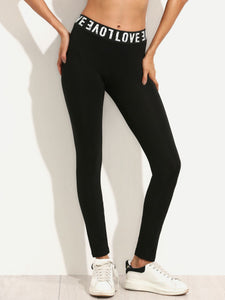 Love letter print leggings