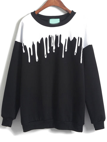 3D Dripping paint fashion pullover sweater - Iconic Trendz Boutique
