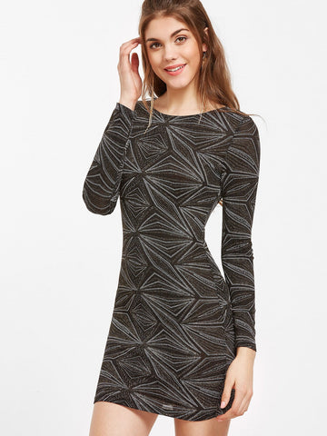Dream-long sleeve dazzling bodycon dress - Iconic Trendz Boutique