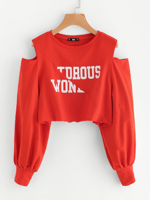 Ladies cutout shoulder oversize pullover sweater - Iconic Trendz Boutique