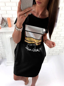 If not now then when text oversize tshirt dress