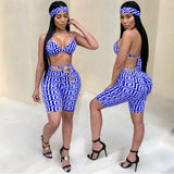 Ladies Bohemian Barbie 2 piece crop pants head tie set