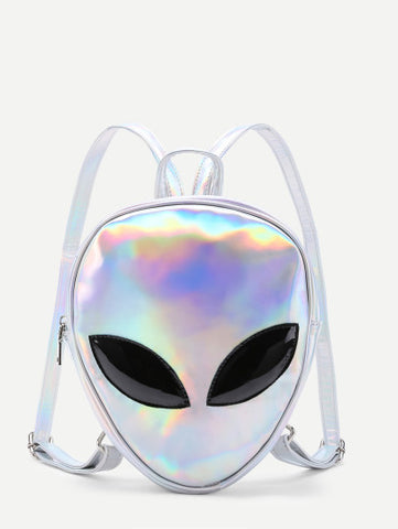 Iridescents alien 3d backpack