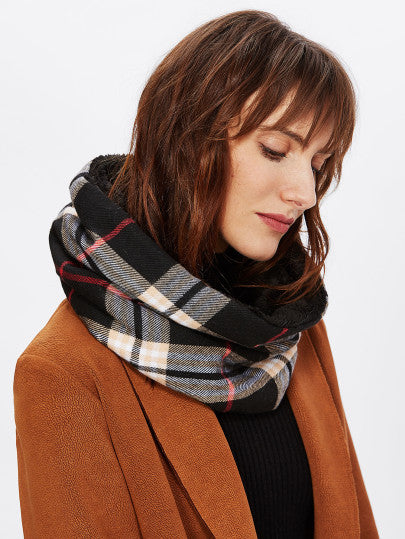Trendy Plaid infinity scarf