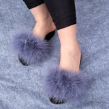 """Icon dolls"" aqua collection fur fluffy fuzzy slides slippers"