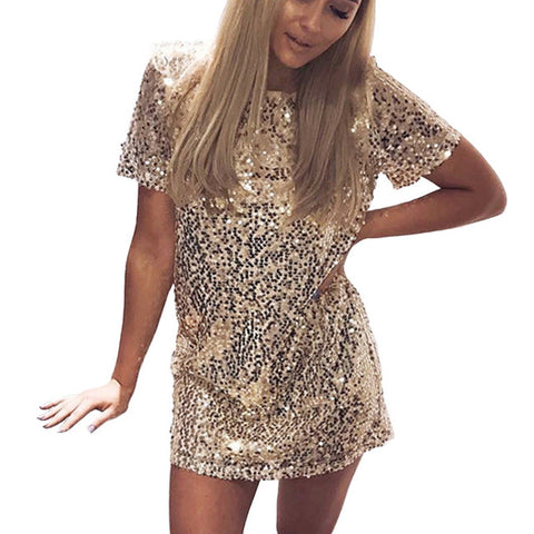 """Manhattan"" Sequins tshirt dress"