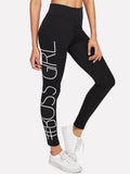 # Boss girl fashion leggings