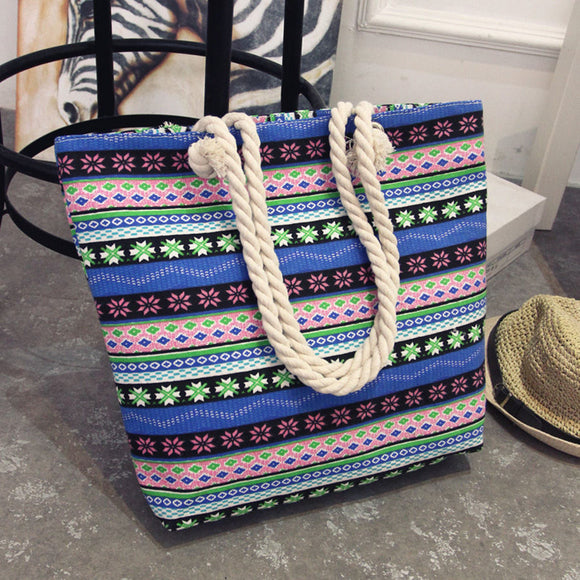 Aztec design beach travel tote handbag
