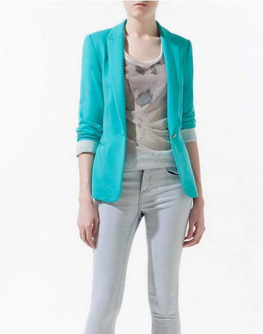 blue boyfriend cardigan fashion jacket