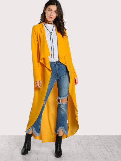 Trendy Open long cardigan jacket