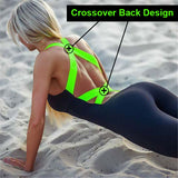 Cross back fitness workout clothing bodycon comfy jumpsuit