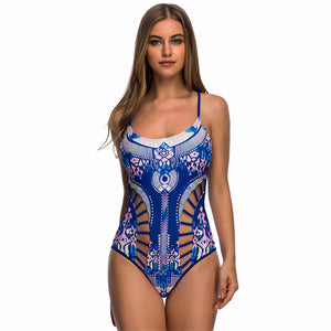 Aztec Stylish cutout one piece monokini swimsuit