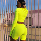 New age Neon 2 piece crop top pants set